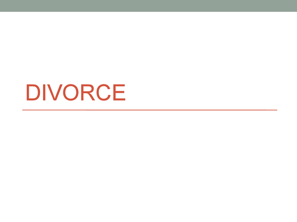 Preview of Divorce