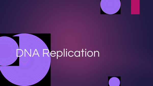 Preview of DNA replication