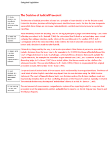 Preview of Doctrine of Judicial Precdent