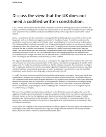 Preview of Does the UK need a codified constitution?