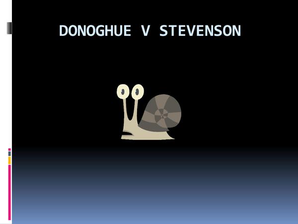 Preview of Donoghue v Stevenson