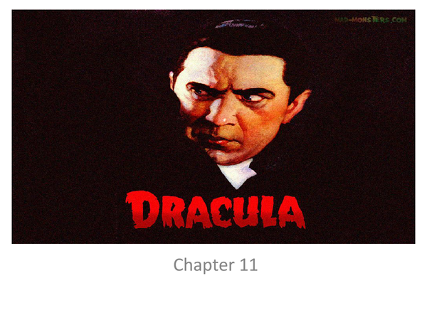 Preview of Dracula Chapter 11