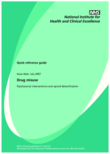 Preview of drug misuse psychosocial quick