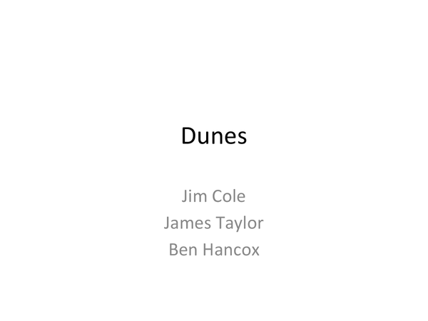 Preview of Dune Evolution