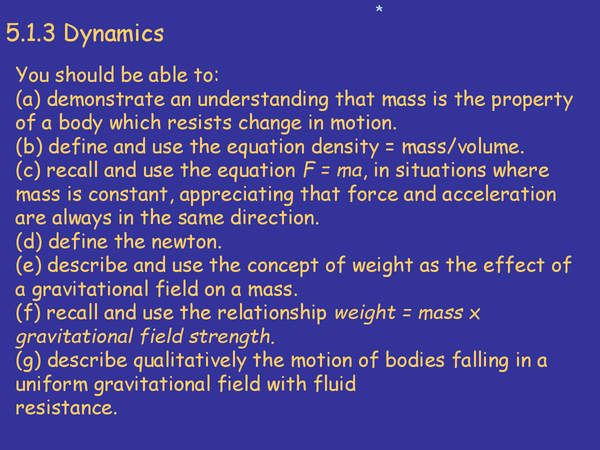 Preview of Dynamics