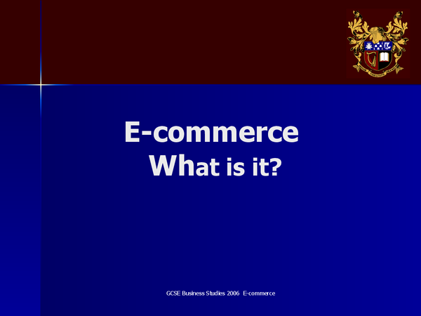 Preview of E commerce