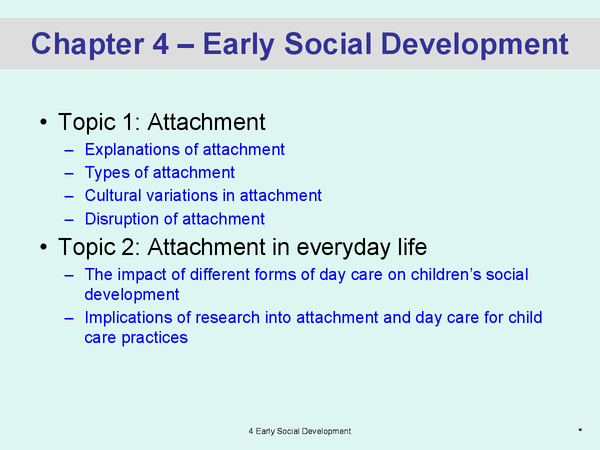 Preview of Early Social Development