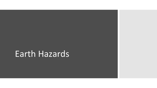 Preview of Earth Hazards