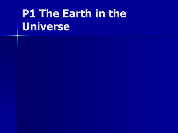 Preview of Earth in Universe