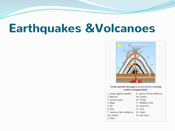 Preview of Earthquakes and volcanoes.