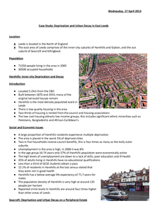 Preview of East Leeds Urban Deprivation Case Study