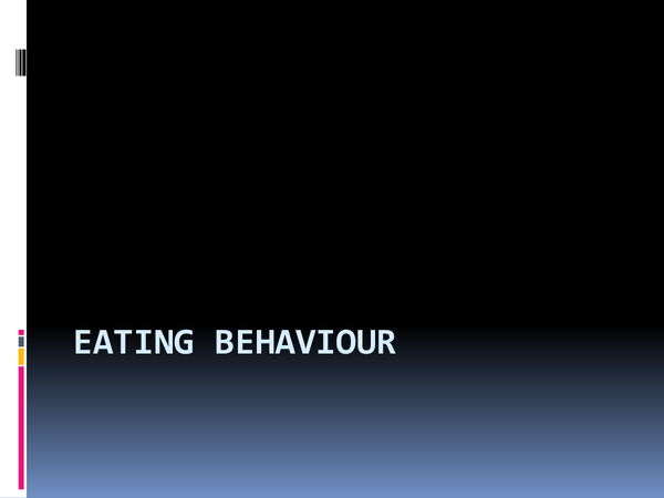 Preview of Eating Behaviour Presentation