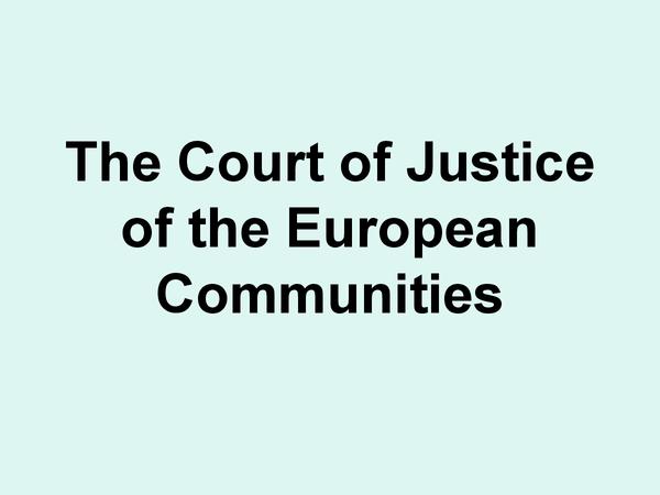 Preview of ECJ