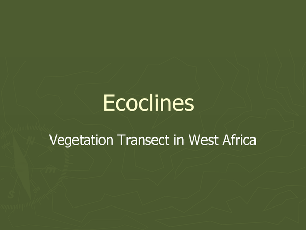 Preview of Ecoclines - Vegetation Transect in West Africa