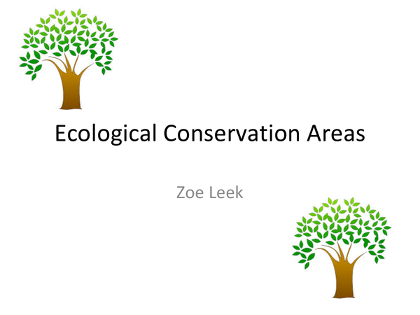 Preview of ecological conservation areas