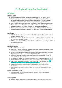 Preview of Ecologism Examples Handbook 1
