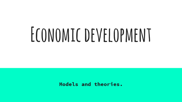 Preview of Economic developmment models
