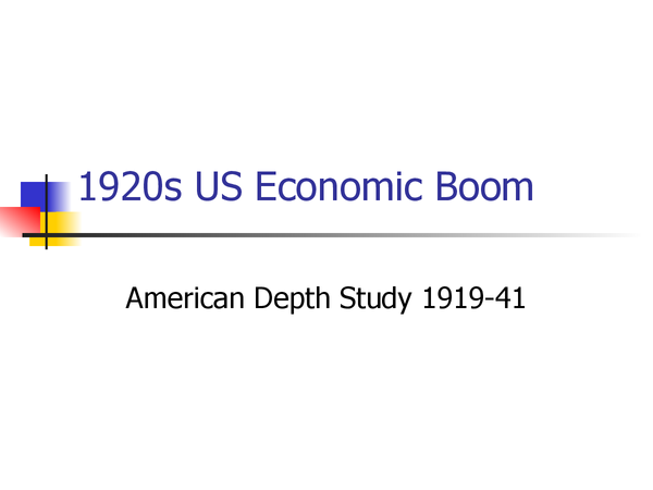 Preview of Economic boom - America in the 1920s OCR powerpoint