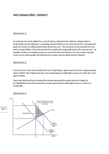 Preview of Economics AQA Unit 1 January 2012- Context B answers