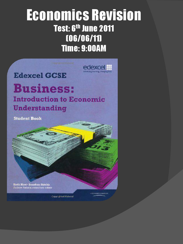 Economics – IGCSE Past Papers