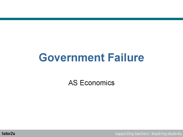 Preview of Economics Government Failure