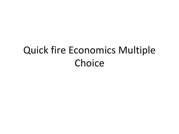 Preview of Economics Unit 1 AQA