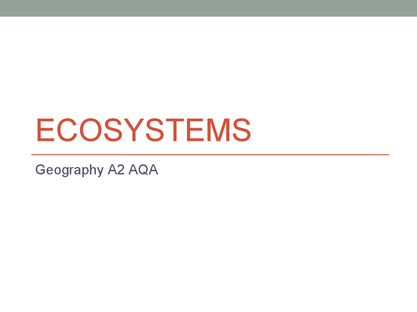 Preview of Ecosystems Revision Powerpoint
