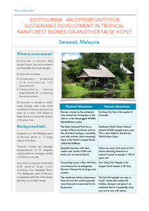 Preview of Ecotourism - Sarawak