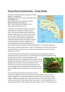 Preview of Ecotourism - Costa Rica, Case Study.