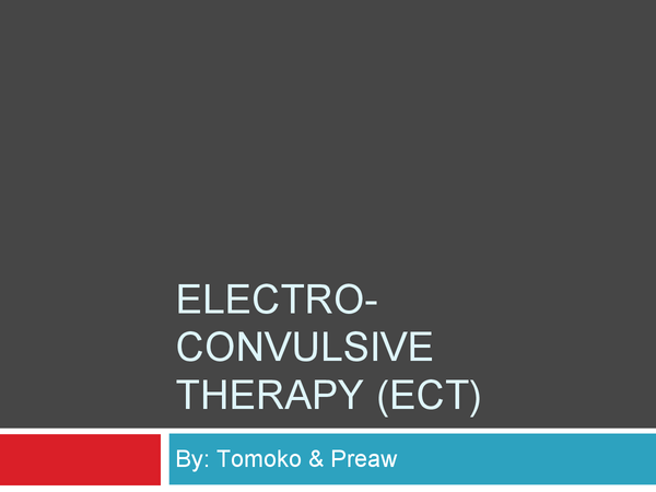 Preview of ECT -Biological therapy