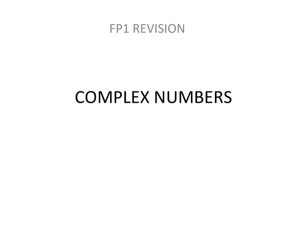 Preview of Edexcel AS Further Maths: Further Pure 1 / FP1