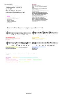Preview of Edexcel Baroque, Handel.