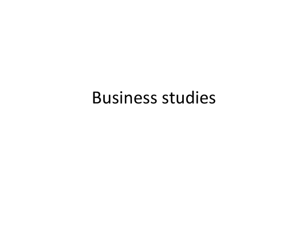 Preview of Edexcel Business Studies - Revision Guide