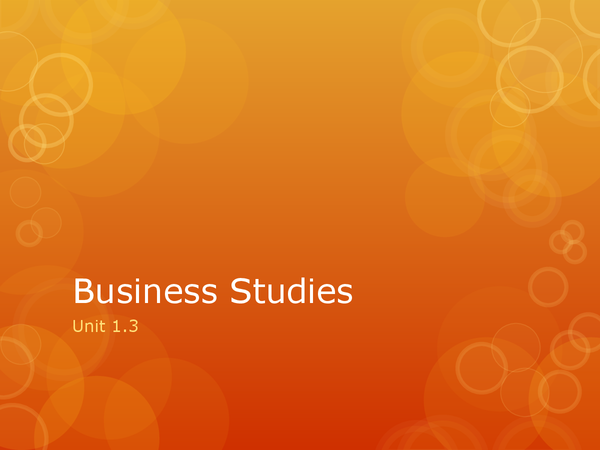 Preview of Edexcel Business Studies Unit 1.3 Revision Notes