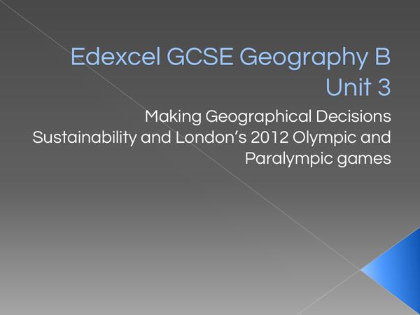 Preview of Edexcel GCSE Geography B Unit 3.