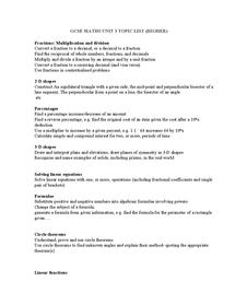 Preview of EDEXCEL GCSE MATHS UNIT 3 TOPIC LIST (HIGHER)