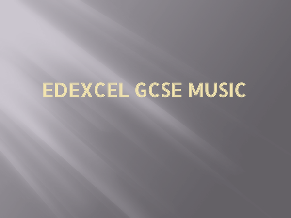 Preview of Edexcel GCSE Music