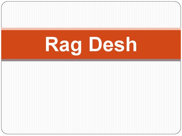 Preview of Edexcel GCSE Music AOS4: Rag Desh