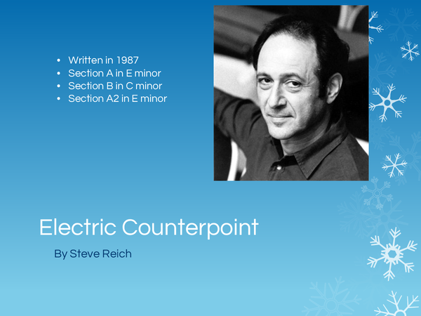 Preview of Edexcel GCSE Music - Electric Counterpoint Powerpoint