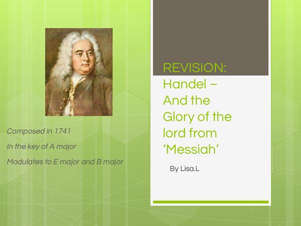 Preview of Edexcel GCSE Music - Handel Powerpoint