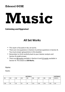 Preview of Edexcel GCSE Music - Practice Exam (Unofficial)