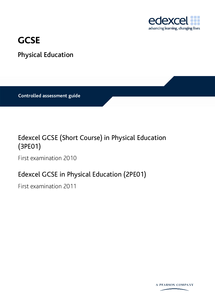Preview of Edexcel GCSE PE Controlled Assessment Guide