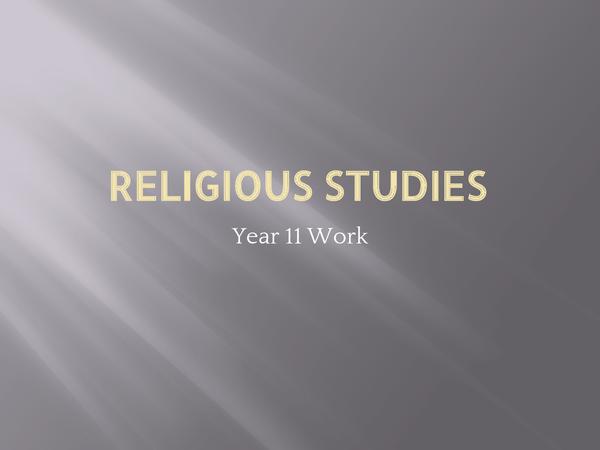 Preview of Edexcel GCSE Religious Studies Unit 8B: Religion & Society - Christianity & Islam