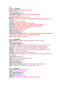 Preview of Edexcel GCSE Set works. (All)