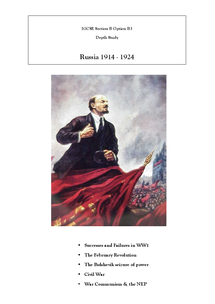 Preview of Edexcel iGCSE History Revision: Russia in Revolution, 1914-1924