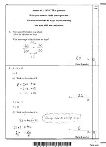 Preview of Edexcel Maths 7 June 2010 Mark scheme!!