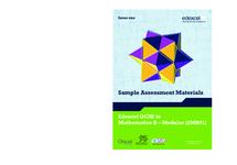 Preview of EDEXCEL MATHS SAMPLE ASSESSMENT MATERIALS