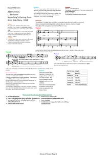 Preview of Edexcel Musicals, Bernstein