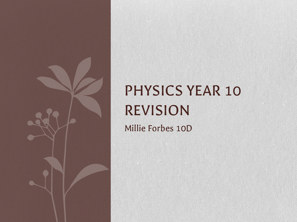 Preview of Edexcel Physics Revision Powerpoint