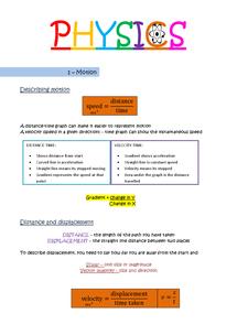 Preview of Edexcel Physics Unit 1